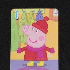 Coleccionismo Cromos antiguos: CARTA PEPA PIG-ABD 2003-PEPPA PIG SE ABRIGA EN INVIERNO.. Lote 198848511