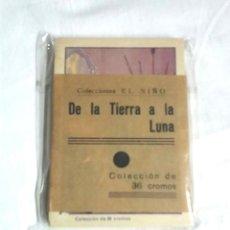 Coleccionismo Cromos antiguos: DE LA TIERRA A LA LUNA, COLECCIÓN COMPLETA DE 36 CROMOS. Lote 198966920