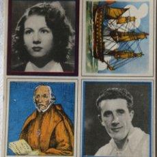 Coleccionismo Cromos antiguos: CROMOS ENCICLOPEDIA CULTURAL DE CHICOS BLOQUE DE 4 CROMOS VER DESCRIPCION Y FOTOS. Lote 199365660