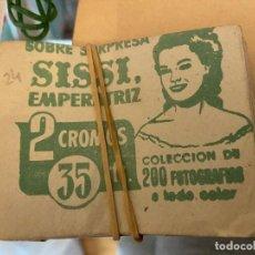 Colecionismo Cromos antigos: SOBRE CON CROMOS SISSI EMPERATRIZ CAJA 11 MA. Lote 199390793
