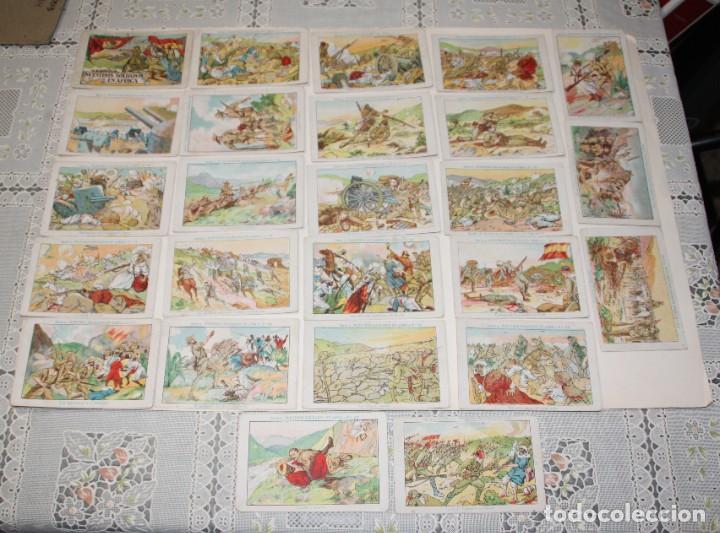 Coleccionismo Cromos antiguos: CROMOS NUESTROS SOLDADO EN AFRICA SERIE A COMPLETA 25 CROMOS - Foto 2 - 200593157