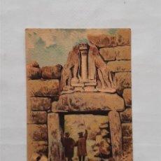 Coleccionismo Cromos antiguos: CROMO MONUMENTOS ANTIGUOS Nº 32 LA PUERTA DE LOS LEONES EN MICENAS (GRECIA) AÑOS 30. Lote 201805598