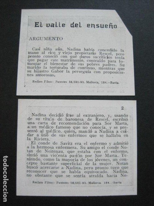 Coleccionismo Cromos antiguos: EL VALLE DEL ENSUEÑO-COLECCION COMPLETA DE 6 CROMOS DE CINE-VER FOTOS-(V-19.735) - Foto 5 - 202326123