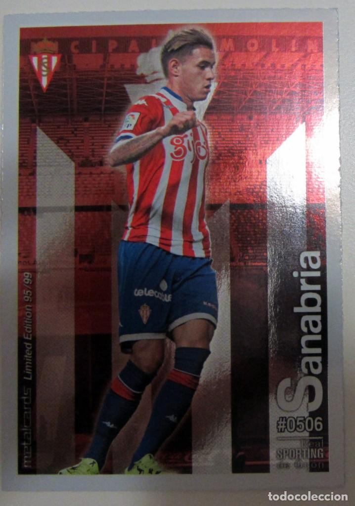 Coleccionismo Cromos antiguos: MC METALCARDS LIMITED EDITION FICHAS QUIZ LIGA 2016 BRILLANTE INIESTA PAREJO LLORENTE GAMEIRO - Foto 2 - 202845387