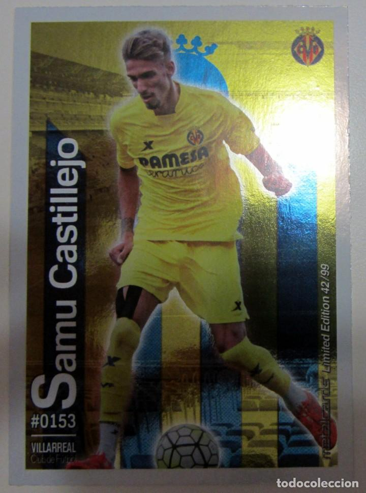 Coleccionismo Cromos antiguos: MC METALCARDS LIMITED EDITION FICHAS QUIZ LIGA 2016 BRILLANTE INIESTA PAREJO LLORENTE GAMEIRO - Foto 12 - 202845387