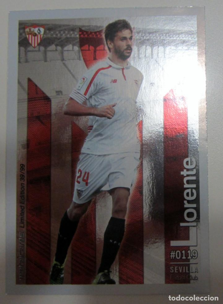 Coleccionismo Cromos antiguos: MC METALCARDS LIMITED EDITION FICHAS QUIZ LIGA 2016 BRILLANTE INIESTA PAREJO LLORENTE GAMEIRO - Foto 14 - 202845387