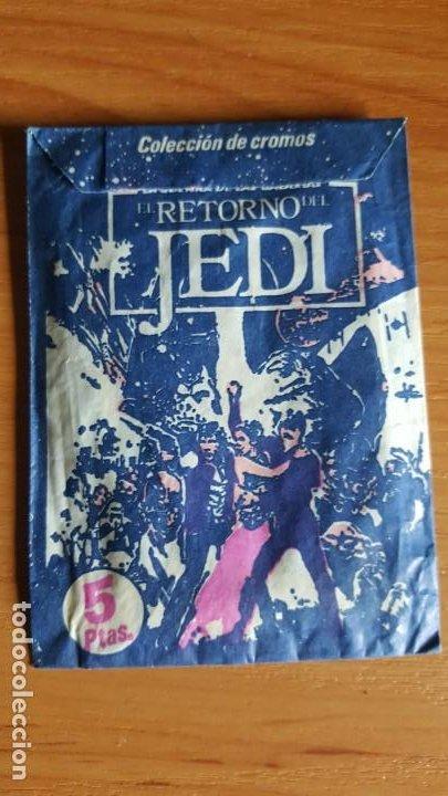 STAR WARS SOBRE CROMOS SIN ABRIR EL RETORNO DEL JEDI -AÑO 1983 PACOSA DOS (Coleccionismo - Cromos y Álbumes - Cromos Antiguos)