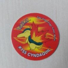 Collectionnisme Cartes à collectionner anciennes: COLECCIÓN TAZOS MATUTANO POKÉMON TAZO 3 VERSIÓN AÑO 2001 NINTENDO - Nº 155 CYNDAQUIL. Lote 204676136