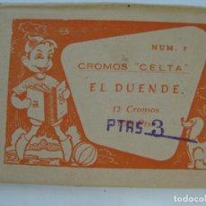 Coleccionismo Cromos antiguos: EL DUENDE - CROMOS CELTA, COMPLETA CON EL SOBRE ORIGINAL. Lote 204994446