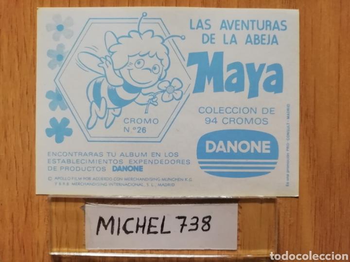 Coleccionismo Cromos antiguos: Cromo.. Las aventuras de la Abeja Maya.. N °26..Danone.. Nunca pegado.. Sin pegar... - Foto 2 - 205340862