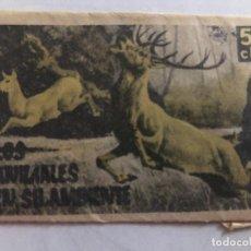 Coleccionismo Cromos antiguos: SOBRE CROMOS SIN ABRIR LOS ANIMALES EN SU AMBIENTE EDITORIAL FHER CONTIENE LOS CROMOS. Lote 206380393