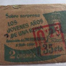 Coleccionismo Cromos antiguos: SOBRE CROMOS SIN ABRIR LOS JOVENES AÑOS DE UNA DAMA CONTIENE LOS CROMOS. Lote 206381656