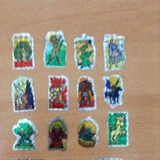 Collezionismo Figurine antiche: CROMOS PEGATINA DRAGONES Y MAZMORRAS , MATUTANO 16 UNIDADES CON SUS TRASERAS. Lote 206406357