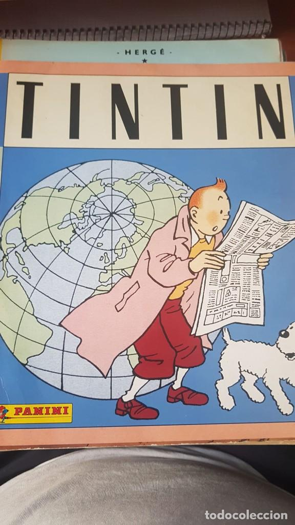 TINTIN - ALBUM CROMOS COMPLETO PANINI ESPAÑA - 1989 - INCLUIDOS CROMOS 84, 221 Y 229 AÚN POR PEGAR (Coleccionismo - Cromos y Álbumes - Cromos Antiguos)