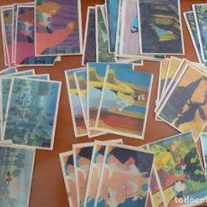 Coleccionismo Cromos antiguos: LOTE 75 CROMOS COLECCION LA BELLA DURMIENTE DISNEY EDICIONS ROLLAN NUNCA PEGADOS. Lote 206455016