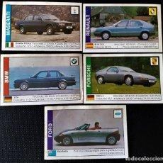 Coleccionismo Cromos antiguos: 5 CROMOS DISTINTOS - COCHES 1989 - EDITORIAL CUSCO - DESPEGADOS. Lote 206494400