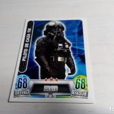 Coleccionismo Cromos antiguos: N° 115 PILOTO DE CAZA TIE STAR WARS TOPPS FORCE ATTAX CARD CARREFOUR. Lote 206840351
