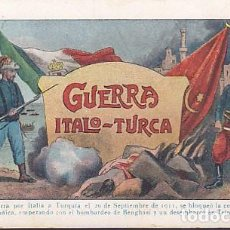 Coleccionismo Cromos antiguos: COLECCION COMPLETA GUERRA ITALO-TURCA CHOCOLATE JUNCOSA. Lote 207068058