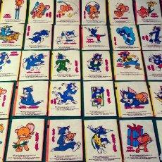 Coleccionismo Cromos antiguos: LOTE DE CROMOS CHICLE TOM Y JERRY 1989. Lote 207339181