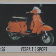 Coleccionismo Cromos antiguos: CROMO DE MOTOS VESPA SIN PEGAR Nº 135 AÑO 1989 DEL ALBUM MOTOCICLISMO DE MILANO. Lote 207987448