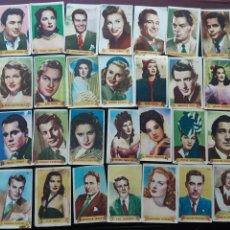 Coleccionismo Cromos antiguos: LOTE DE 72 CROMOS ÚLTIMAS FOTOGRAFÍAS FAMOSAS ESTRELLAS DEL FIRMAMENTO ALBUM PRIMERO, SIN ÁLBUM. Lote 138569486
