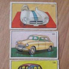 Coleccionismo Cromos antiguos: 3 CROMOS AUTOMOVILES. Lote 208962645