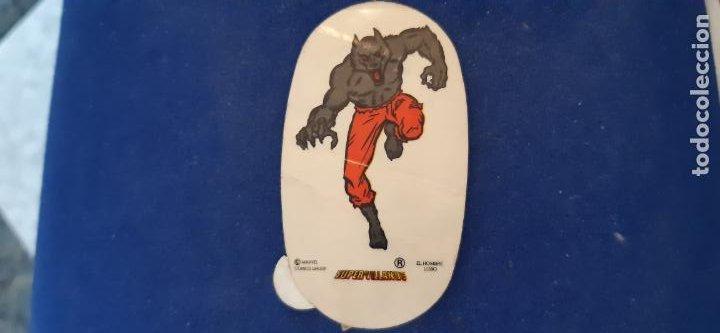 CROMO ADHESIVO OVALADO MARVEL COMIC PANRICO SPIDERMAN SUPERVILLANO LOBO SUPERHÉROE NUNCA PEGADO (Coleccionismo - Cromos y Álbumes - Cromos Antiguos)