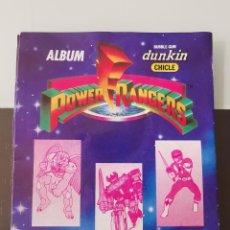 Coleccionismo Cromos antiguos: ALBUM CROMOS CHICLE DUNKIN POWER RANGERS CHEWING GUM MEGAZORD BUBBLE GUM. Lote 209299521