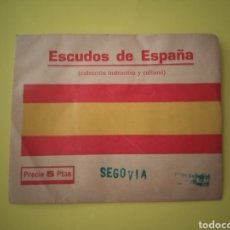 Coleccionismo Cromos antiguos: ESCUDOS DE ESPAÑA SOBRE SIN ABRIR (SEGOVIA) MUY RARA COLECCIÓN. Lote 210253320