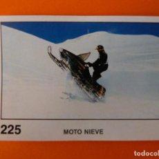Coleccionismo Cromos antiguos: CROMO DE MOTOS MOTO NIEVE SIN PEGAR Nº 225 AÑO 1990 DEL ÁLBUM SOLO MOTO DE PANINI. Lote 210344532
