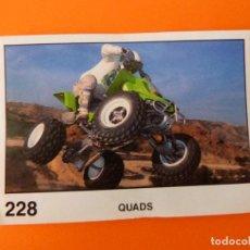 Coleccionismo Cromos antiguos: CROMO DE MOTOS QUADS SIN PEGAR Nº 228 AÑO 1990 DEL ÁLBUM SOLO MOTO DE PANINI. Lote 210344600