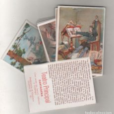 Coleccionismo Cromos antiguos: COLECCIÓN COMPLETA DE 40 CROMOS. CERVANTES EL QUIJOTE. TEATRO PRINCIPAL. CARTAGENA. CINE MUDO. Lote 210660861