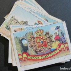 Coleccionismo Cromos antiguos: ESPAÑA MONUMENTAL-COLECCION COMPLETA 50 CROMOS-PUBLICIDAD CHOCOLATES JUNCOSA-VER FOTOS-(V-21.169). Lote 210775086