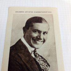 Coleccionismo Cromos antiguos: CROMO TEMA CINE PUBLICIDAD CHOCOLATE JUNCOSA DEL ACTOR EDDIE LYONS. Lote 210786391