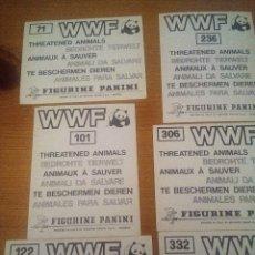 Coleccionismo Cromos antiguos: LOTE 6 CROMOS WWF RESERVADO PARA SUSO. Lote 211629426