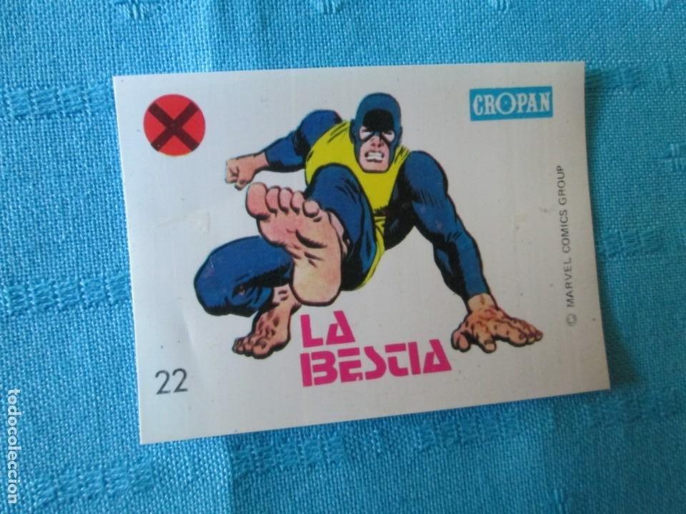 CROPAN MARVEL Nº 22 LA BESTIA (Coleccionismo - Cromos y Álbumes - Cromos Antiguos)