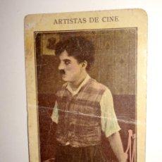 Coleccionismo Cromos antiguos: CROMO DE CHARLES CHAPLIN - CHARLOT - ARTISTAS DE CINE. Lote 212561050