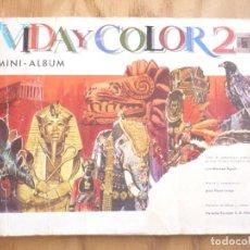 Coleccionismo Cromos antiguos: VIDA Y COLOR 2 MINI-ALBUM. Lote 212651760
