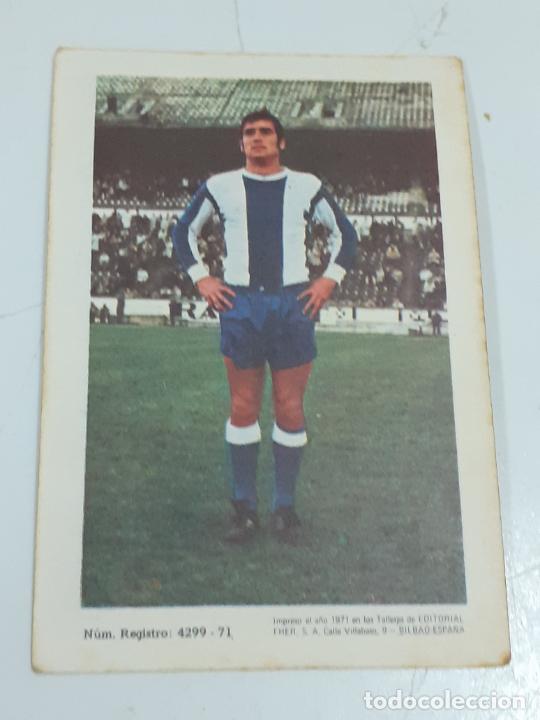 Coleccionismo Cromos antiguos: CROMO ANTONIO BELLOD GARCIA - DEFENSA - R.C.D. LA CORUÑA- SIN USAR/EDITORIAL FHER 1971 (2439) - Foto 2 - 213303260
