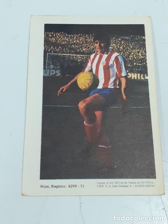 Coleccionismo Cromos antiguos: CROMO ISELIN SANTOS OVEJERO - DEFENSA-AT MADRID- SIN USAR/EDITORIAL FHER 1971 (2443) - Foto 2 - 213304085