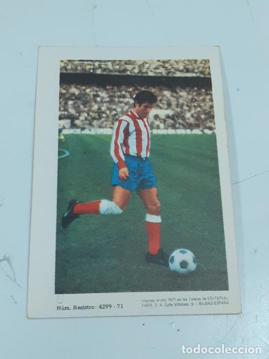 Coleccionismo Cromos antiguos: CROMO FRANCISCO DELGADO MELO - DEFENSA-AT MADRID- SIN USAR/EDITORIAL FHER 1971 (2445) - Foto 2 - 213304268