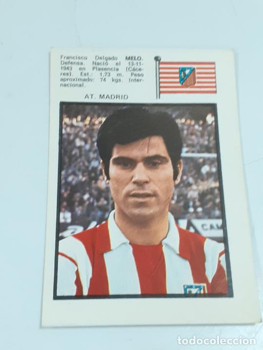 CROMO FRANCISCO DELGADO MELO - DEFENSA-AT MADRID- SIN USAR/EDITORIAL FHER 1971 (2445) (Coleccionismo - Cromos y Álbumes - Cromos Antiguos)