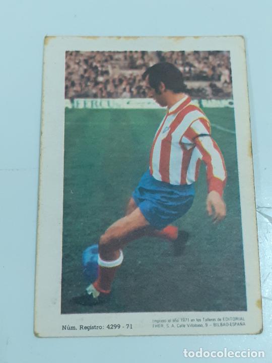 Coleccionismo Cromos antiguos: CROMO ADELARDO RODRÍGUEZ SÁNCHEZ- MEDIO -AT MADRID- SIN USAR/EDITORIAL FHER 1971 (2447) - Foto 2 - 213304437