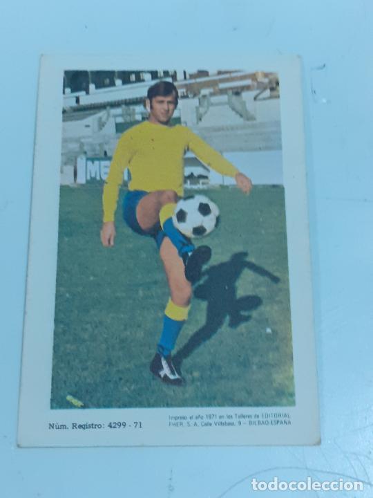 Coleccionismo Cromos antiguos: CROMO GONZALO MERINO GONZÁLEZ- DELANTERO -U.D. LAS PALMAS- SIN USAR/EDITORIAL FHER 1971 (2448) - Foto 2 - 213316426