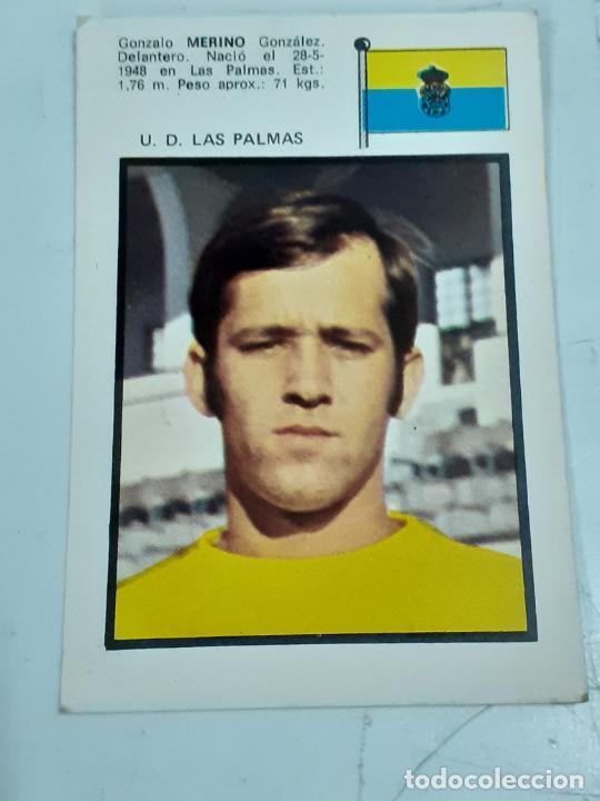 CROMO GONZALO MERINO GONZÁLEZ- DELANTERO -U.D. LAS PALMAS- SIN USAR/EDITORIAL FHER 1971 (2448) (Coleccionismo - Cromos y Álbumes - Cromos Antiguos)