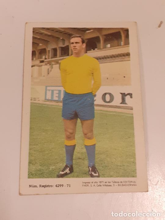 Coleccionismo Cromos antiguos: CROMO GERMAN DEVORA CABALLOS - DELANTERO -U.D. LAS PALMAS- SIN USAR/EDITORIAL FHER 1971 (2450) - Foto 2 - 213316586