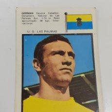 Coleccionismo Cromos antiguos: CROMO GERMAN DEVORA CABALLOS - DELANTERO -U.D. LAS PALMAS- SIN USAR/EDITORIAL FHER 1971 (2450). Lote 213316586