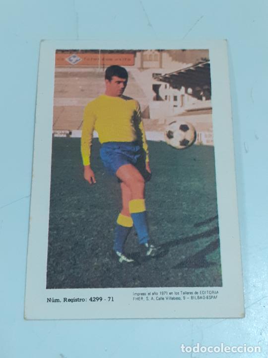 Coleccionismo Cromos antiguos: CROMO ALFONSO MORENO TONONO- DEFENSA-U.D. LAS PALMAS- SIN USAR/EDITORIAL FHER 1971 (2452) - Foto 2 - 213316827