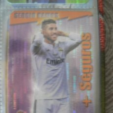Coleccionismo Cromos antiguos: 6/14 SERGIO RAMOS (REAL MADRID) - SEGUROS SECURITY VERTICAL - MUNDICROMO LIGA 2014 2015 14 15. Lote 213557598