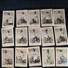 Coleccionismo Cromos antiguos: COLECCIÓN COMPLETA 19 FOTOTIPIAS, ANTES DEL CONCURSO. Lote 213608857